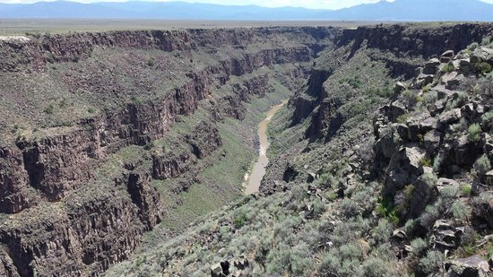 Rio Grande Gorge Bridge : View of the Rio Grande River, 800 feet below the bridge.