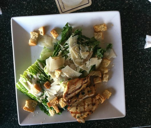 Flippers on the Bay: chicken caesar salad with just the right balance of cheese and dressing