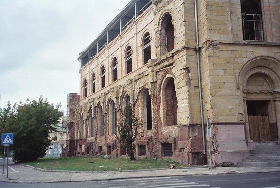 Prozna Street (Ulica Prozna): Reduta Bank ruin near Prozna Street