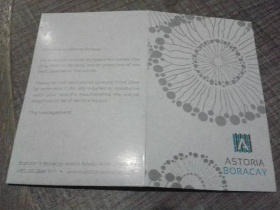 Astoria Boracay: card