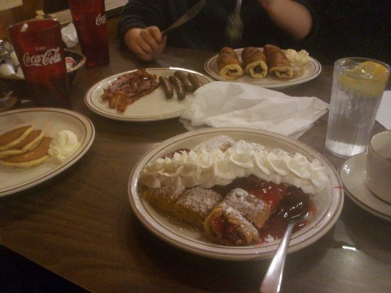 Log Cabin Pancake House: Just one of our meals. My favorite so far is the strawberry crepes. Yummy yummy