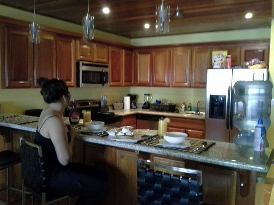 Hol Chan Reef Villas: Breakfast in a wonderful kitchen by a wonderful chef, me.