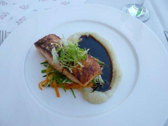 Questenberk: My dinner on the terrace.