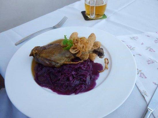 Questenberk: My husband's dinner on the terrace.