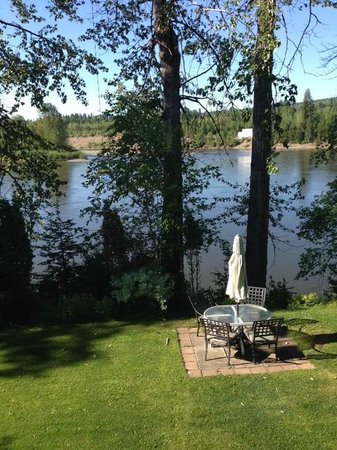 Water's Edge Bed & Breakfast: view of the river from the garden