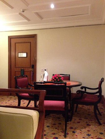 The Oberoi - TEMPORARILY CLOSED: The dining table inside the room