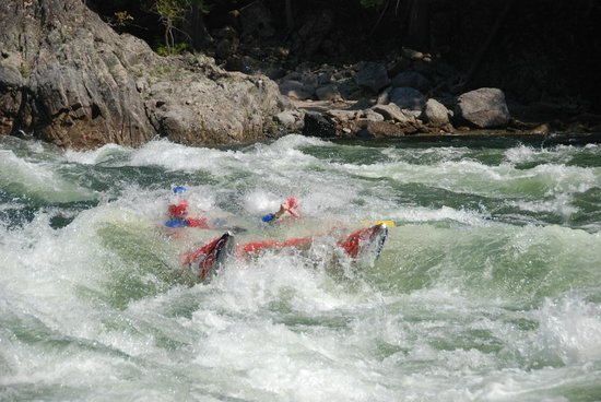 Liquid Lifestyles Whitewater Rafting : Refreshing icy water from the creek. This was fun!