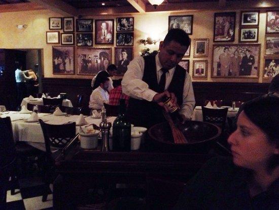 Caesar's : Hotel Caesar, Tijuana.  Salad preparation at table side.