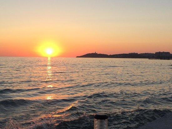 Ephesia Holiday Beach Club : Magnifique coucher de soleil