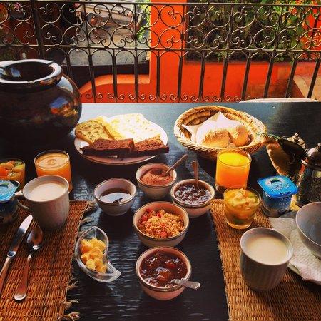 Riad Hermes: Petit déjeuner de rêve