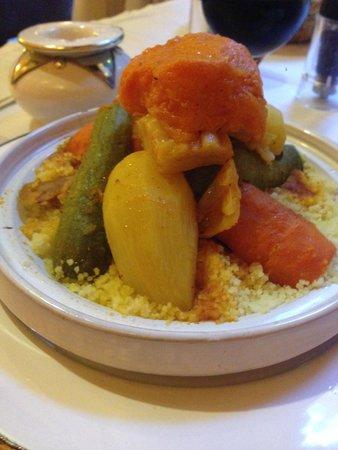 Riad Hermes: Couscous Royal aux 7 légumes