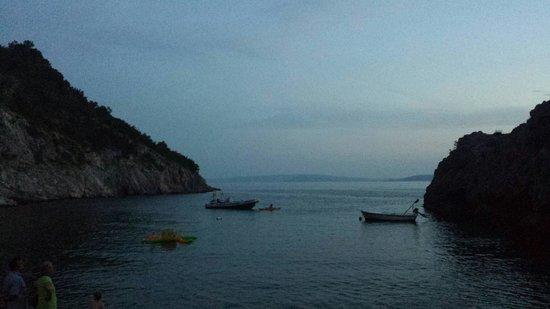Camp Ujca: La bella vista sul mare