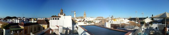 Hotel Amadeus: Roof terrace view