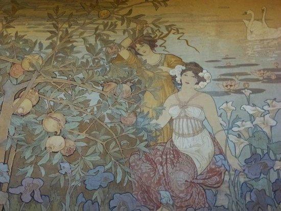 Grand Hotel Villa Igiea - MGallery by Sofitel : détail des murs de la salle Art Nouveau