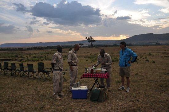 Sentinel Mara Camp: Seeing sunset in the Maasai Mara wild landscope