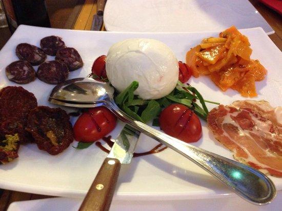 Inn Bufalito Taverna Mediterranea: Starter to share of buffalo mozzarella, buffalo salami, buffalo cured meat and pumpkin.