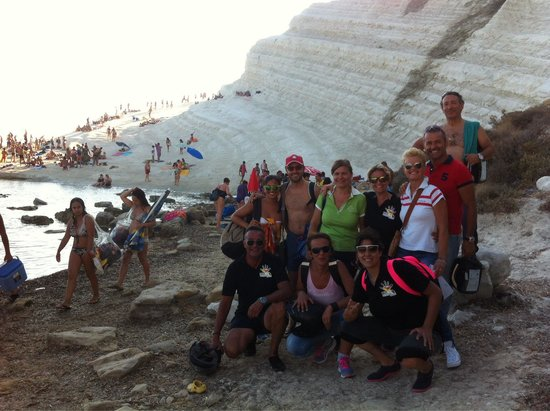 Scala dei Turchi: saluti dei BIKER ON THE ROAD SIRACUSA
