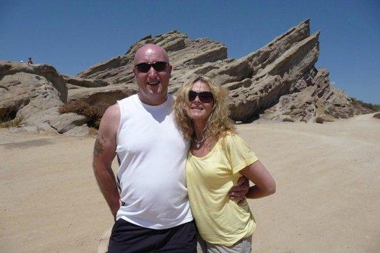 Vasquez Rocks Natural Area: Mr and Mrs W at Vasquez Rocks
