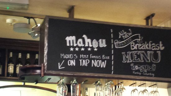 Ultracomida: With draft Mahou beer! :)