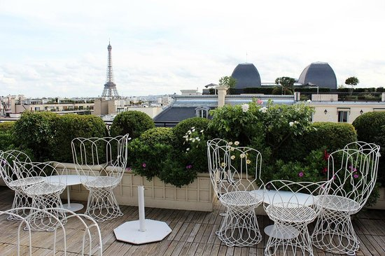 tour eiffel picture of la terrasse hotel raphael paris tripadvisor. Black Bedroom Furniture Sets. Home Design Ideas