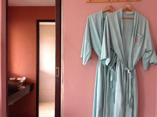 Blue Hill Beach Resort: old-fashioned bathrobes