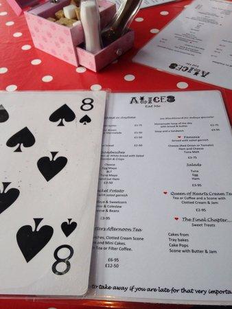 Alice's Tearoom: Menus