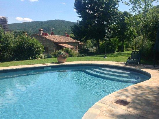 Agriturismo Rocca di Pierle: Prachtig schoon en verkoelend zwembad.