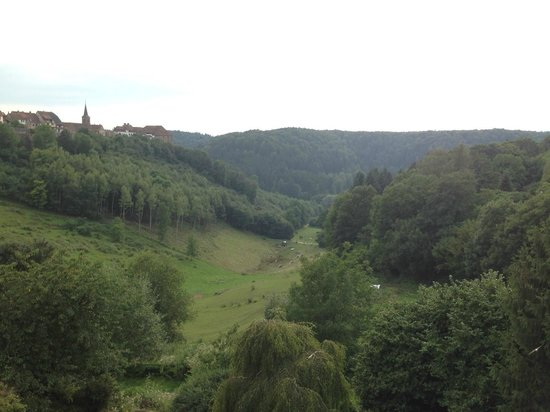 View of the valley from Hotel Aux Trois Roses