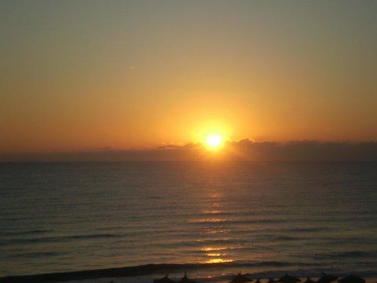 Topkapi Beach Mahdia: Hotel-východ slunce