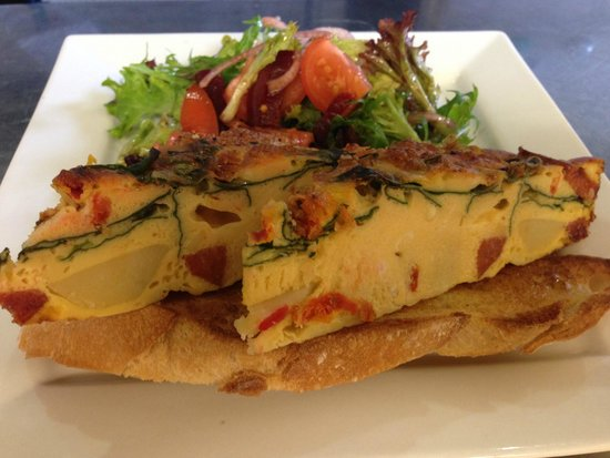 Cafe 89: Spanish Frittata on sourdough...