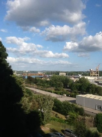 Clayton Hotel Silver Springs: View of Cork from Bedroom Window
