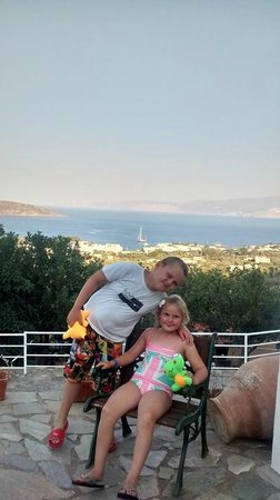 Elounda Residence: My kids from outside our apartment