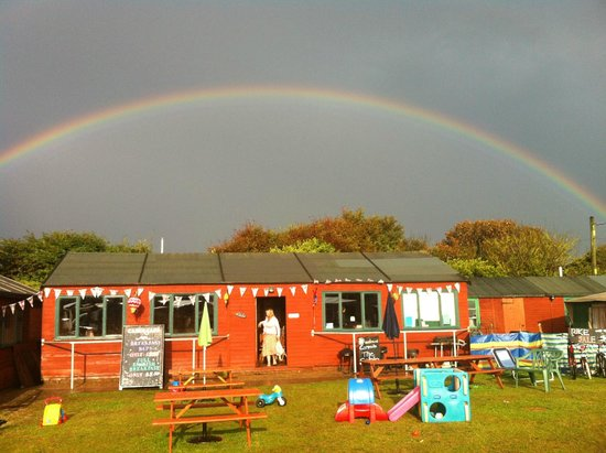Overstrand Campsite: Kids play area and reception/dinning area
