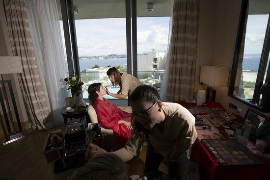 Kempinski Hotel Adriatic Istria Croatia: Makeup with a view