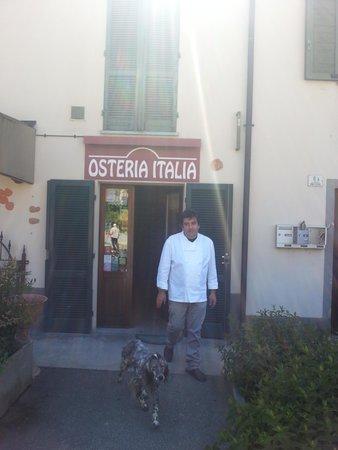 Osteria Italia : Ingresso e cuoco