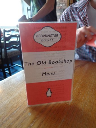 The Old Bookshop : the menu