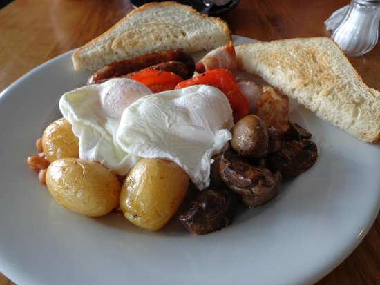 The Old Bookshop: lovely full English