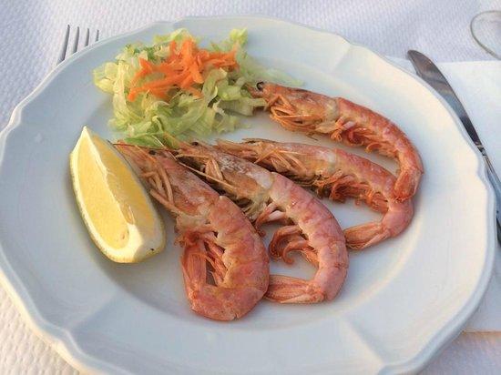 Restaurante Casa Vicent: Prawns.