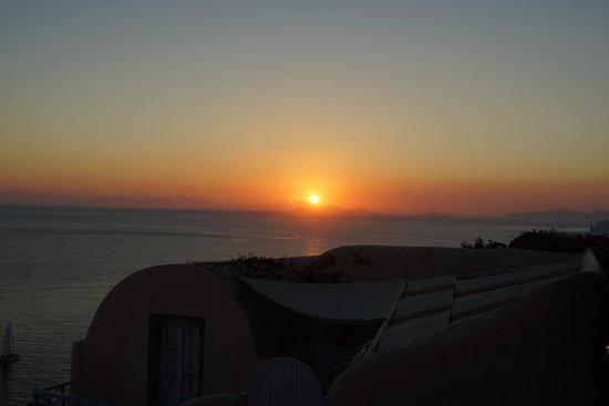 Kastro Oia Restaurant: sunset