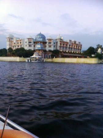 The Leela Palace Udaipur : View from the boat