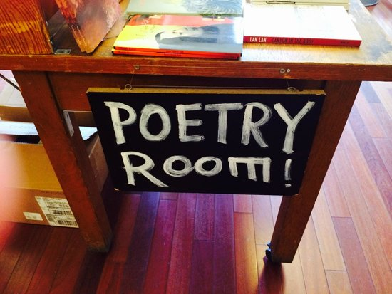 City Lights Booksellers: Upstairs in the Poetry Room