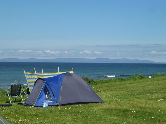 Killegruer Caravan Site: All touring /camping pitches have a sea view.