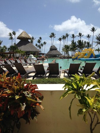 Now Larimar Punta Cana : view from one of pool shade huts