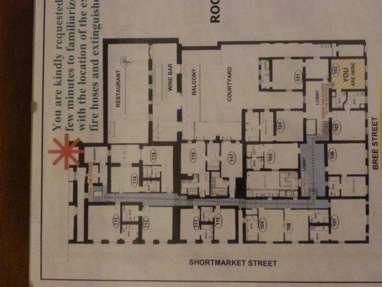 Cape Heritage Hotel: Floorplan in case it helps!