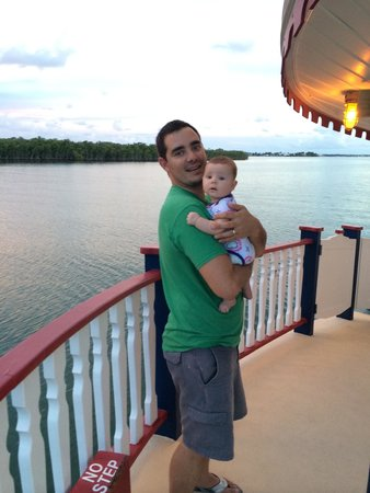 Island Time Cruises: Boat, water and baby calm and relaxed