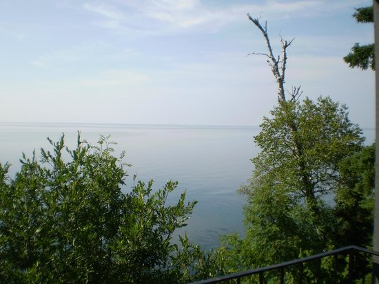 The Cliff Dweller on Lake Superior: View from inside room 110