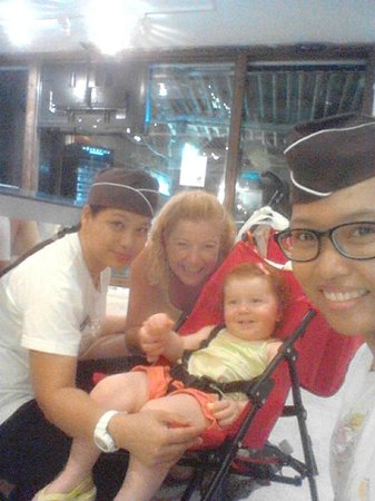 Kata Cuit: Our adorable guests from Australia.