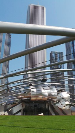 Radisson Blu Aqua Hotel: viewed from the park