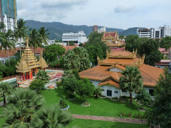 Dharmikarama Burmese Temple : vue de la terrasse