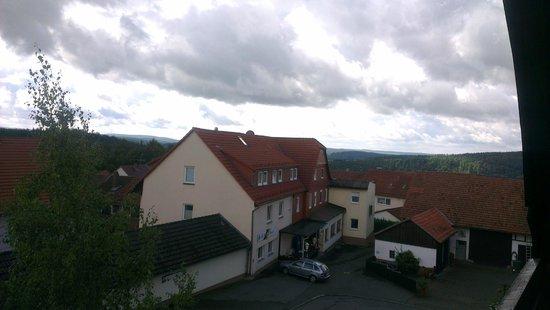 Fürstenberg, Tyskland: Uitzicht van het balkon